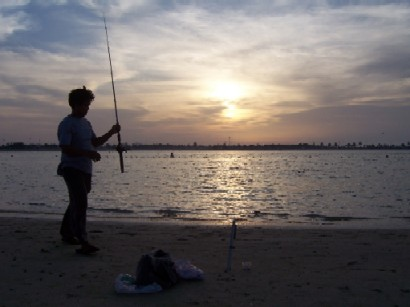 An angler ready to catch fish.--Photo by Jamil Khan